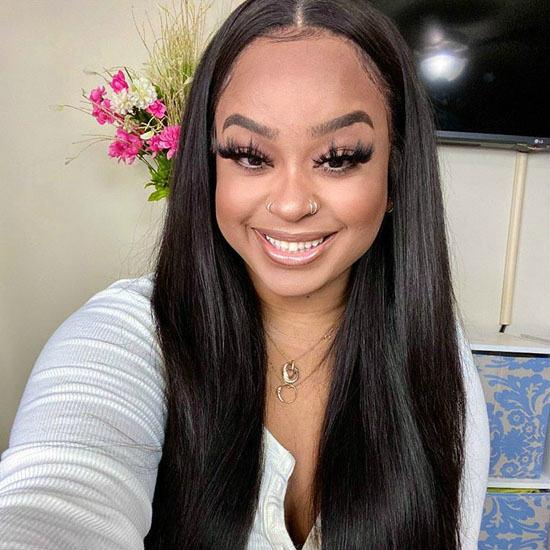 transparent lace front wig