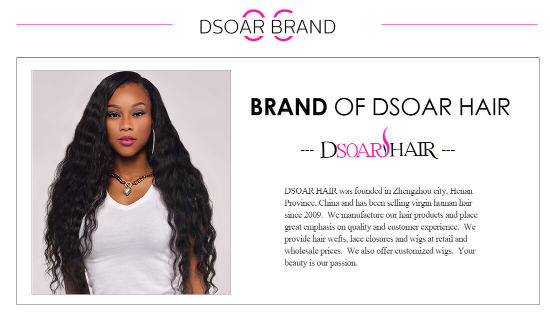 DSoar Hair Peruvian Deep Wave 4 Bundles Virgin Human Hair Natural black